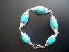 Turquoise wire wrapped bracelet - $20
